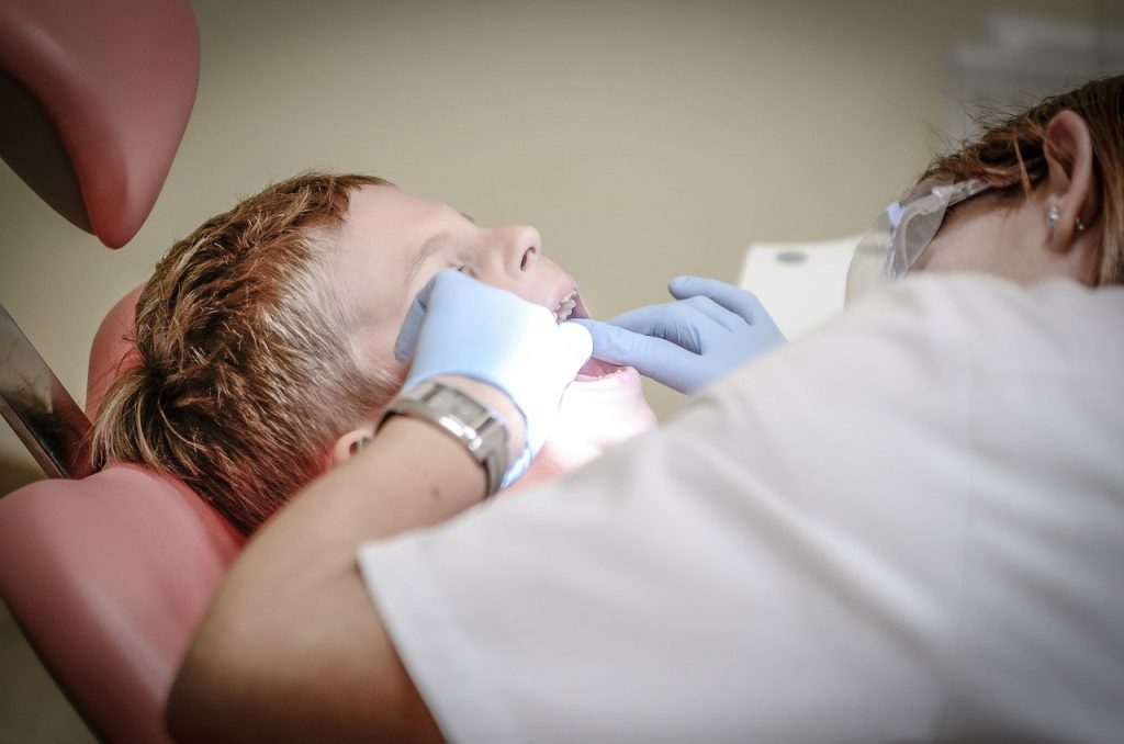 Child at a dentist